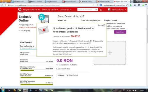 Mesaj către Vodafone