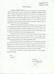 4 mai 2015 Sesizare directiune, cerere dosar 2004 adus in discu
